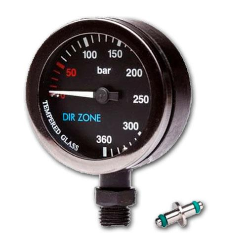 DIRZone 52mm Black Face Pressure Gauge