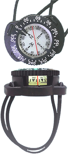 Wrist Compass on Bungee Mount