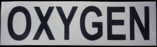 Small Oxygen Cylinder Sticker